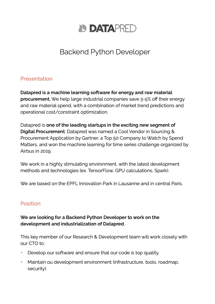 Dev Backend